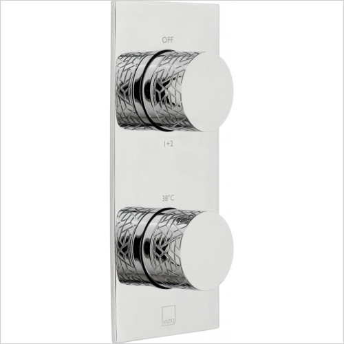 Vado - Omika 2 Outlet 2 Handle Vertical Tablet Thermostatic Valve
