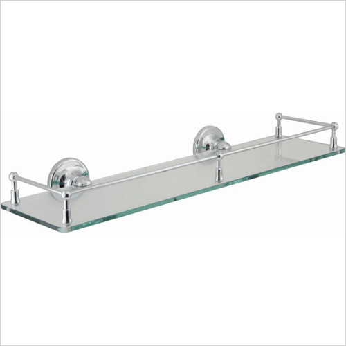 Vado - Tournament Clear Glass Galley Shelf 510mm (20'') Wall Mounte