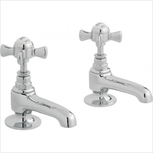Vado - Wentworth Basin Pillar Taps Deck Mounted With Long Spouts
