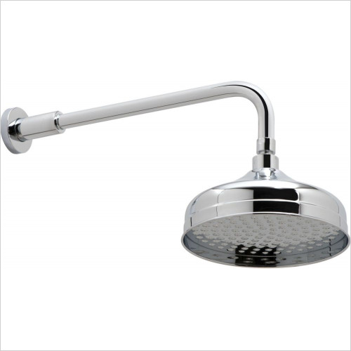 Vado - Traditional 200mm (8'') Round Shower Head & Arm