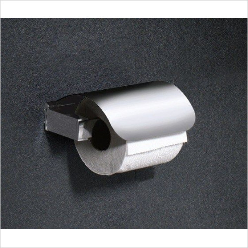 Bathroom Origins - Gedy Kent Toilet Roll Holder With Flap