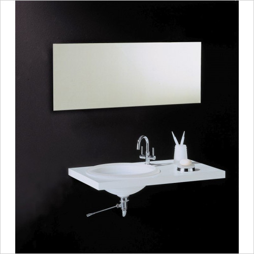 Bathroom Origins - Slim Rectangular Mirror 500x1000mm