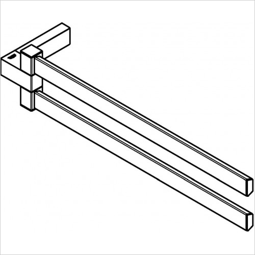 Grohe - Selection Cube Double Towel Bar