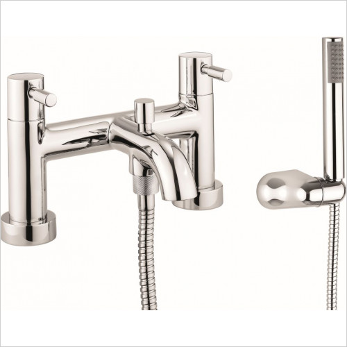 Crosswater - Fusion Bath Shower Mixer Dual Lever With Kit, Deck Mounted