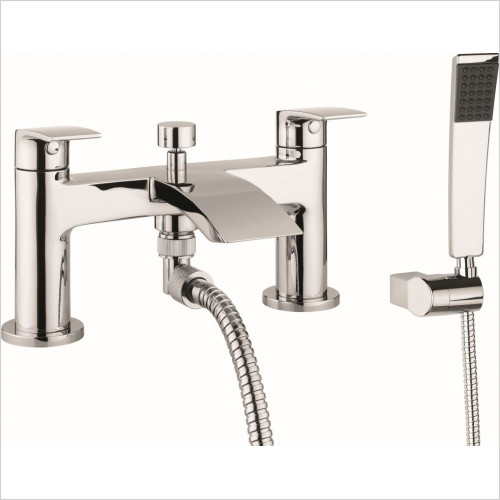 Crosswater - Flow Bath Shower Mixer Dual Lever With Kit, Deck Mounted