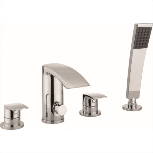 Crosswater - Flow Bath Shower Mixer 4 Hole With Kit, Deck Mounted