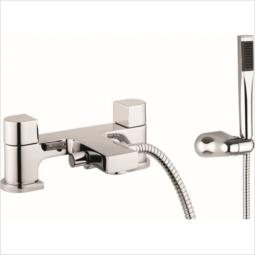 Crosswater - Planet Bath Shower Mixer Dual Lever With Kit, Deck Mounted
