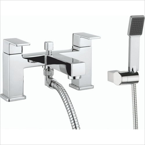 Crosswater - Quantum2 Bath Shower Mixer Dual Lever With Kit Deck Mounted