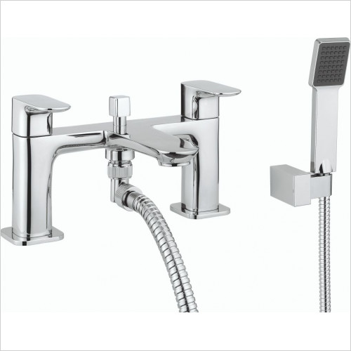 Crosswater - Serene Bath Shower Mixer Dual Lever With Kit, Deck Mounted