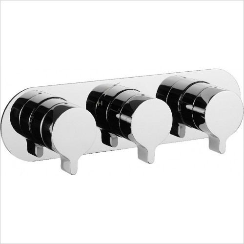 Crosswater - Svelte Thermo Shower Valve 3 Way Diverter (Landscape)