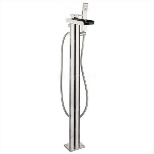 Crosswater - Water Square Bath Shower Mixer With Kit, Floor Standing