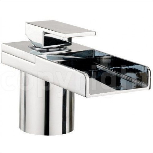 Crosswater - Water Square Bath Filler Mono With Lights, Deck Mounted