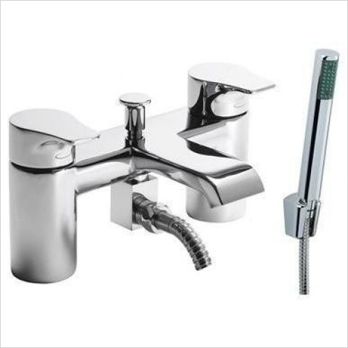 Tavistock - Blaze Deck Mounted Bath/Shower Mixer With Handset