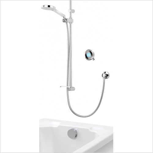 Aqualisa - Q Dual Outlet With Adjustable Head & Bath Overflow Filler