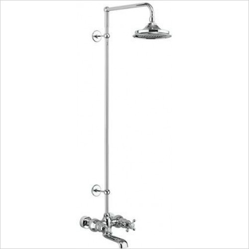 Burlington - Tay Thermo Bath Shower Mixer Wall Mounted Set