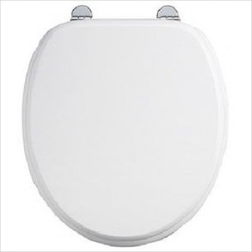 Burlington - Wood Soft Close Toilet Seat With Hinge