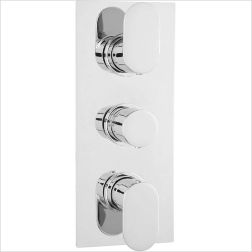Hudson Reed - Reign Triple Thermostatic Shower Valve With Diverter