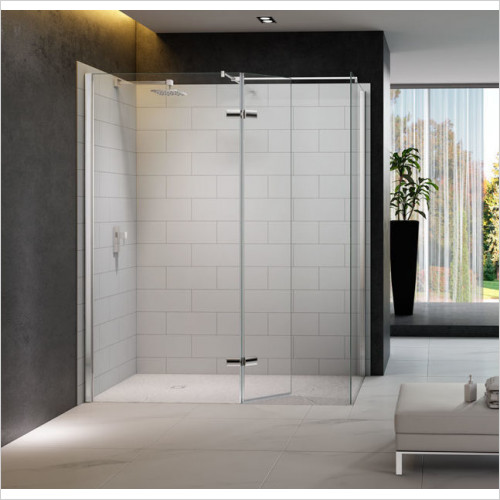 Merlyn - 8 Series Walk In, Hinges Swivel Panel Incl Tray 1600x900mm