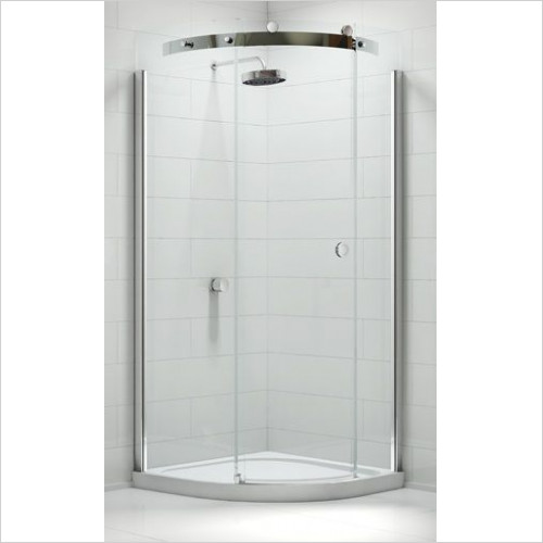10 Series 1 Door Quad 900mm LH Incl MStone Tray