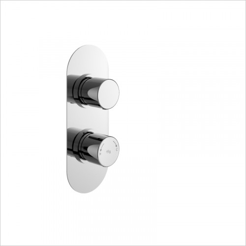 Hudson Reed - Round Twin Shower Valve With Diverter