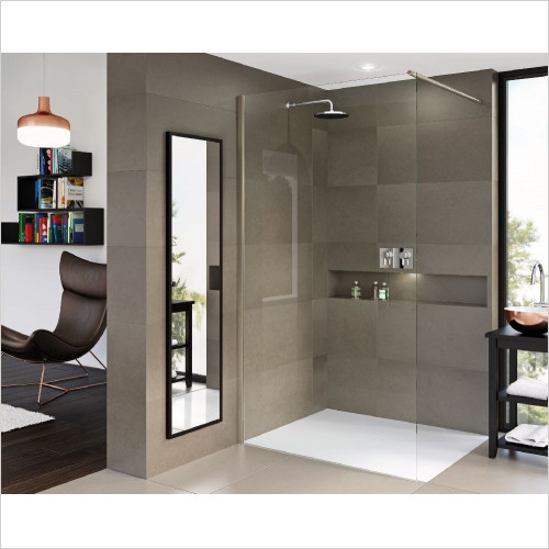 Matki One Wet Room Panel 850mm With Wall Brace