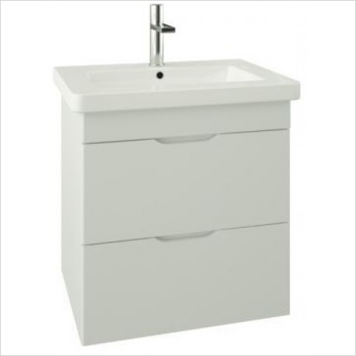 Saneux - Indigo 2-Drawer Wall Mounted Unit For 600mm Basin