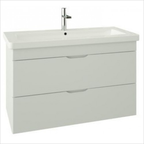 Saneux - Indigo 2-Drawer Wall Mounted Unit For 1000mm Basin