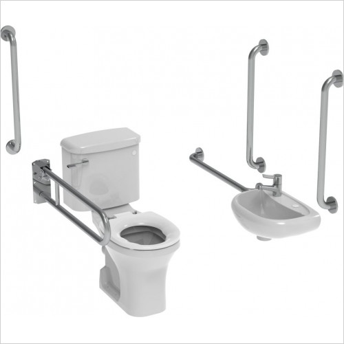Saneux - Care Close Coupled Doc M Pack-Concealed Fixings