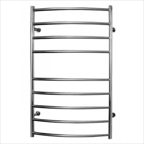 Saneux - 1000 x 600mm Dry Electric Towel Rail/Curved Rails Switched