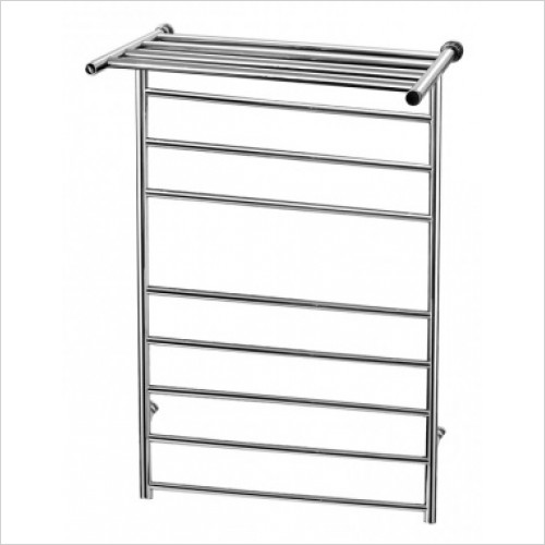 Saneux - 993 x 600mm Dry Electric Towel Rail With Shelf Switched