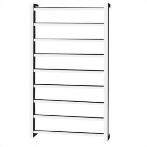 Saneux - 1000 x 600mm Dry Electric Towel Rail - Square Tube Switched