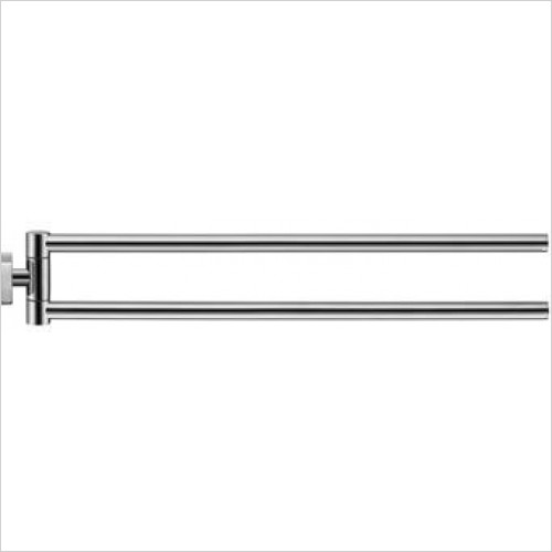 Duravit - Karree Towel Rail 450mm With 2 Swivelling Arms