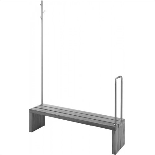 Duravit - Bench/Support Rail With Clothes Rail & Handhold 1400x1400mm