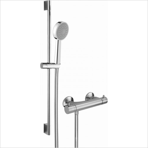 Cifial - Mini Round Exposed Thermostatic Flexi Shower Kit