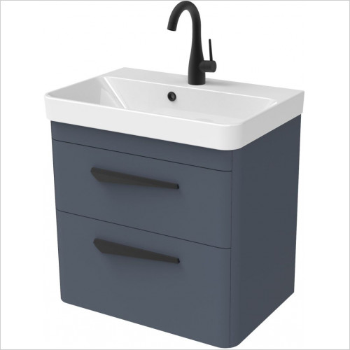 Saneux - Hyde 55 x 38cm Wall Mounted Unit 2 Drawer
