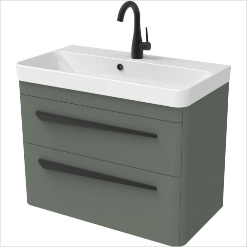 Saneux - Hyde 70 x 38cm Wall Mounted Unit 2 Drawer